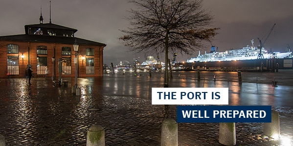 THE PORT IS WELL PREPARED